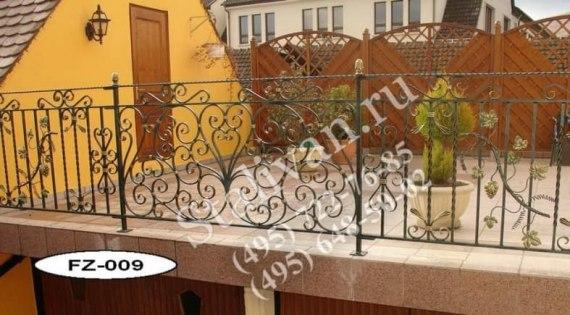 Ограда с художественной ковкой FZ-009 - фото 1