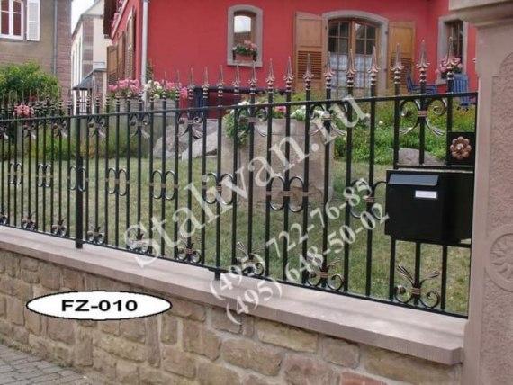 Кованая ограда FZ-010 - фото 1
