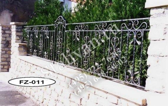 Ограда с художественной ковкой FZ-011 - фото 1