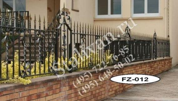 Ограда с ковкой FZ-012 - фото 1
