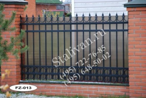 Кованая ограда FZ-013 - фото 1