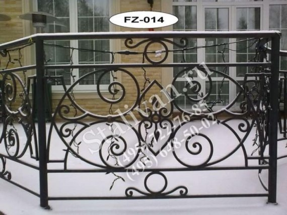 Ограда с ковкой FZ-014 - фото 1