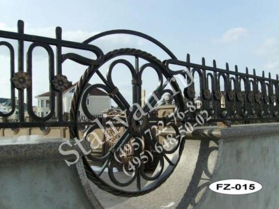Кованая ограда FZ-015 - фото 1