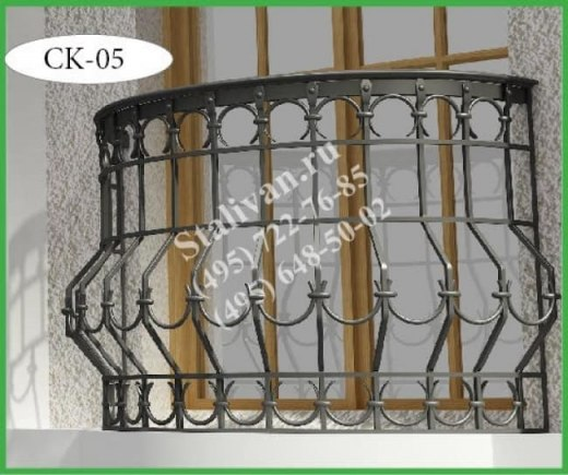 Французский балкончик (кованая цветочница) CK-05 - фото 1