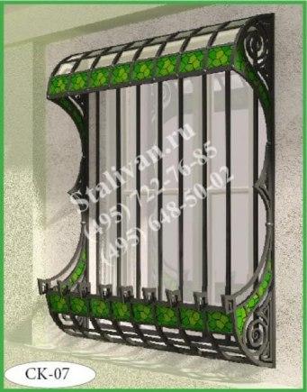Цветочница на окно с ковкой CK-07 - фото 1
