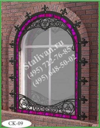 Кованая цветочника на окно CK-09 - фото 1
