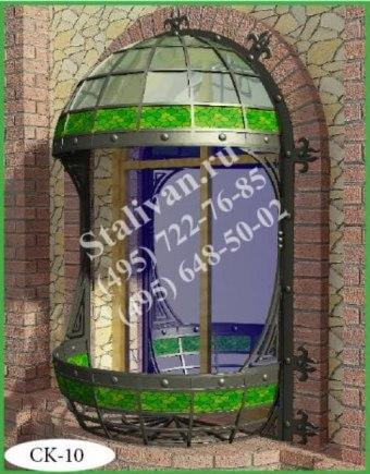 Цветочница на окно с элементами ковки CK-10 - фото 1