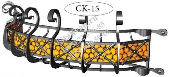 Кованая оконная цветочница CK-15 - фото 1