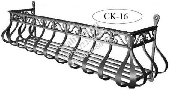 Оконная кованая цветочница CK-16 - фото 1
