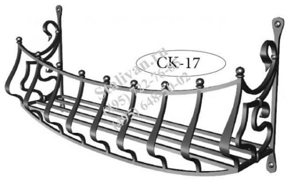 Кованая цветочница CK-17 - фото 1