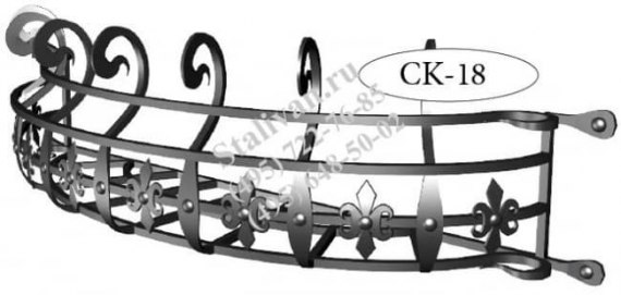 Цветочница с художественной ковкой CK-18 - фото 1