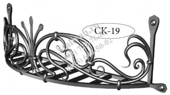 Кованая цветочница CK-19 - фото 1