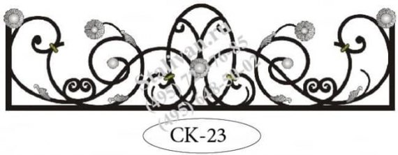 Ажурная кованая цветочница CK-23 - фото 1