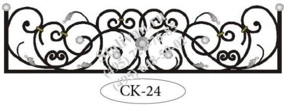Оконная кованая цветочница CK-24 - фото 1