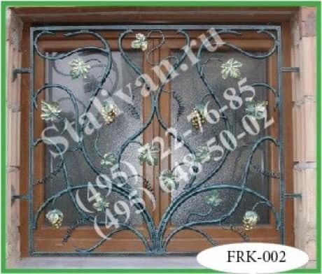 Кованая решетка FRK-002 - фото 1