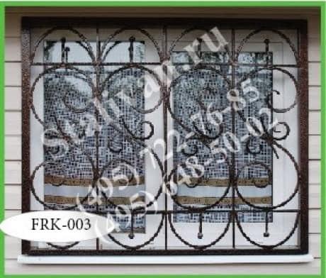 Кованая решетка FRK-003 - фото 1