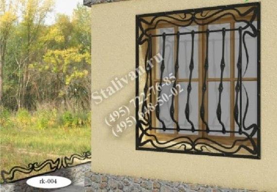 Кованая оконная решетка RK-004 - фото 1