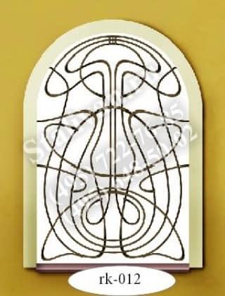 Кованая оконная решетка RK-012 - фото 1