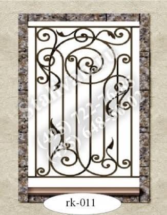 Решетка на окно с ковкой RK-011 - фото 1