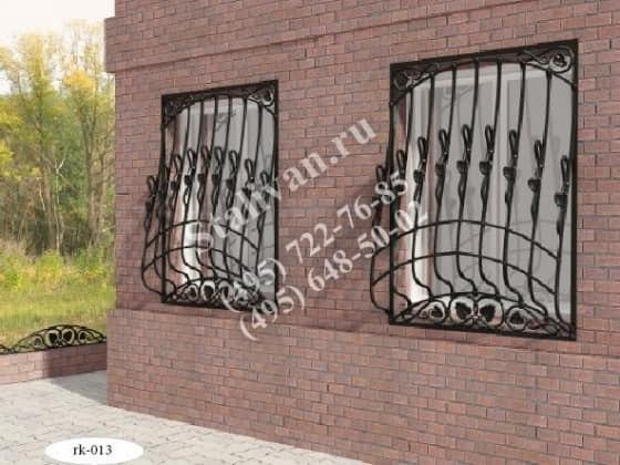 Кованая оконная решетка RK-013 - фото 1