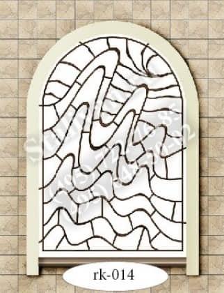 Решетка на окно с художественной ковкой RK-014 - фото 1