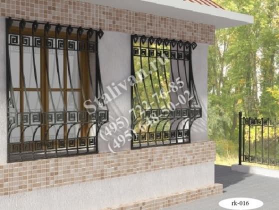 Решетка на окно с художественной ковкой RK-016 - фото 1