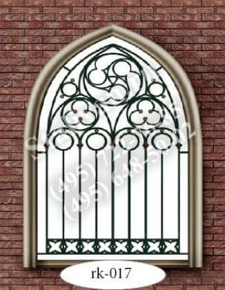 Решетка на окно с художественной ковкой RK-017 - фото 1