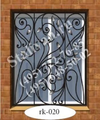 Решетка на окно с художественной ковкой RK-020 - фото 1