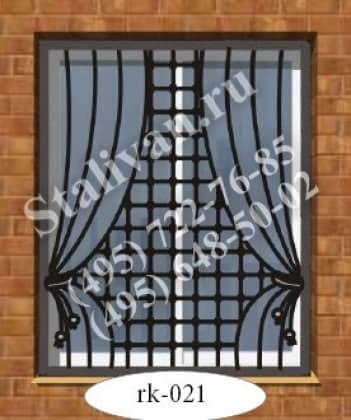 Решетка на окно с художественной ковкой RK-021 - фото 1