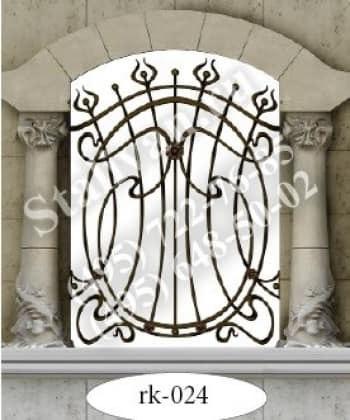 Решетка на окно с художественной ковкой RK-024 - фото 1