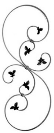 Кованая балясина арт. 10012/9 - фото 1