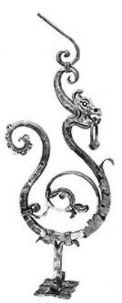 Начальный столб кованый Арт. Дракон-1 - фото 1