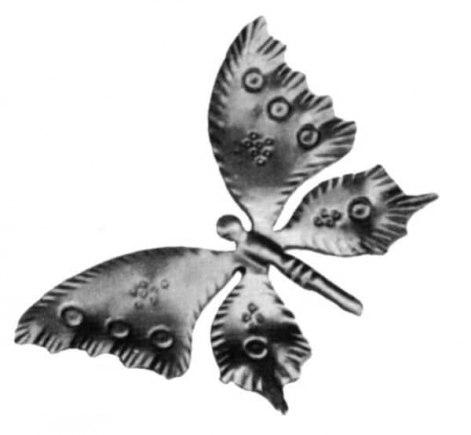Бабочка штампованная арт. 19-1100 - фото 1