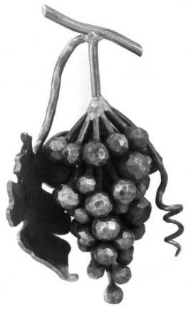 Виноградная гроздь с листочком (арт. 140/Н/1) - фото 1