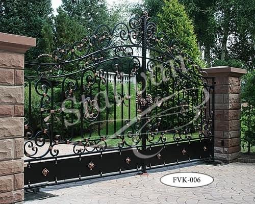 Ажурные кованые ворота FVK-006 - фото 1