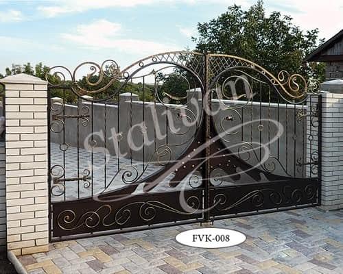 Кованые ворота FVK-008 - фото 1