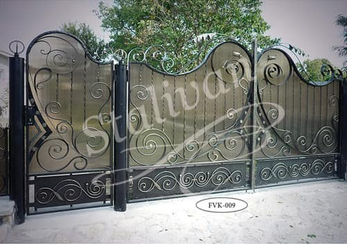 Ворота с ковкой FVK-009 - фото 1