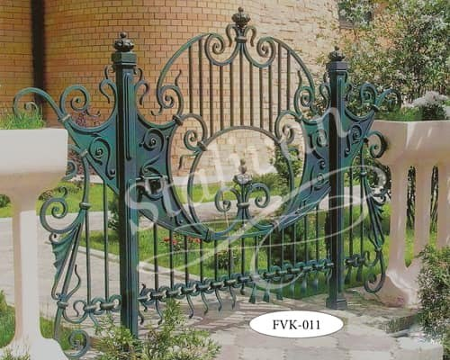 Ворота с художественной ковкой FVK-011 - фото 1