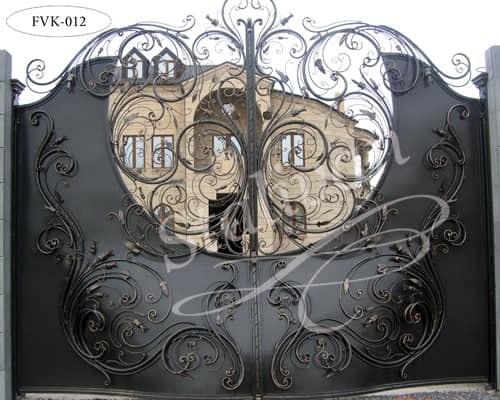 Распашные кованые ворота FVK-012 - фото 1
