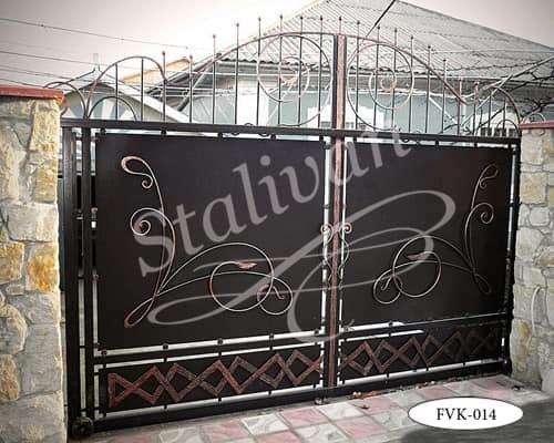 Откатные кованые ворота FVK-014 - фото 1
