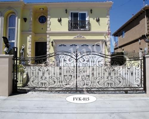 Ажурные кованые ворота FVK-015 - фото 1