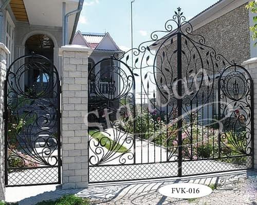 Кованые ворота FVK-016 - фото 1