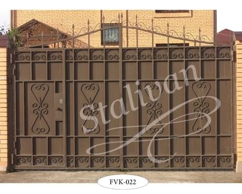 Ворота с ковкой FVK-022 - фото 1