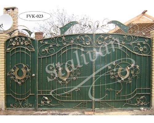 Ворота с элементами ковки FVK-023 - фото 1