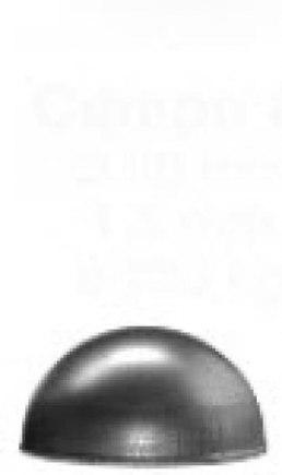 Полусфера кованая Ø 50 mm - фото 1