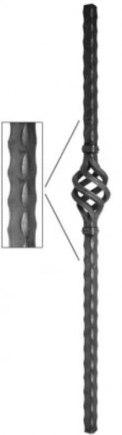 Кованый столб ограждения Арт. 301191 - фото 1