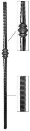 Кованый начальный столб Арт. 324130 - фото 1