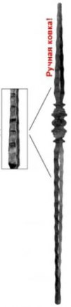 Кованый начальный столб Арт. 324156 - фото 1