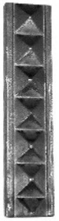 Кованая декоративная полоса 32х9-4 - фото 1