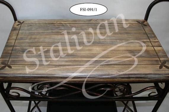 Обувница FSI-091 с ручной росписью и ковкой - фото 1